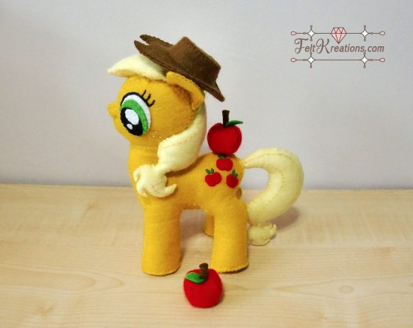 apple jack my little pony Felt Kreations
