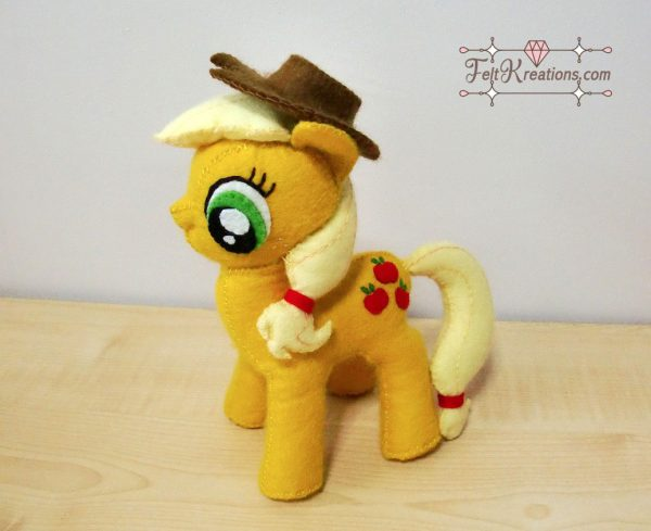 felt my little pony apple jack