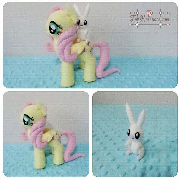 felt fluttershy pony plush pattern