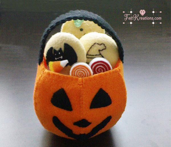 felt halloween jack-o-lantern pattern how do felt pattern