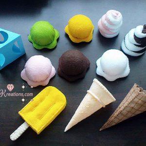 Felt ice cream pattern and tutorial