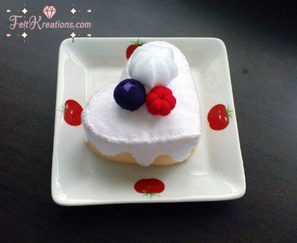 felt cake pattern fruit
