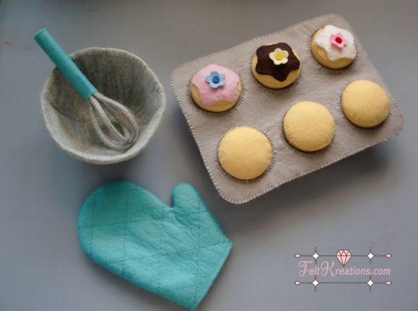 felt cupcakes patterns baking felt pattern pdf ebook