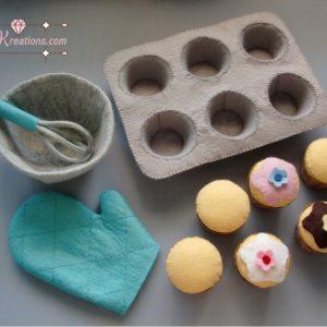 felt cupcake mitten patterns baking felt pattern pdf ebook