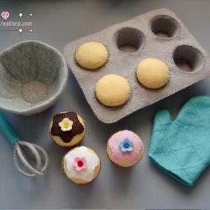 felt cupcakes patterns baking felt pattern pdf ebook