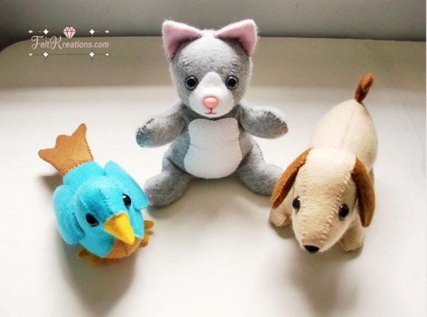 felt cat dog bird patterns pdf ebook how to felt