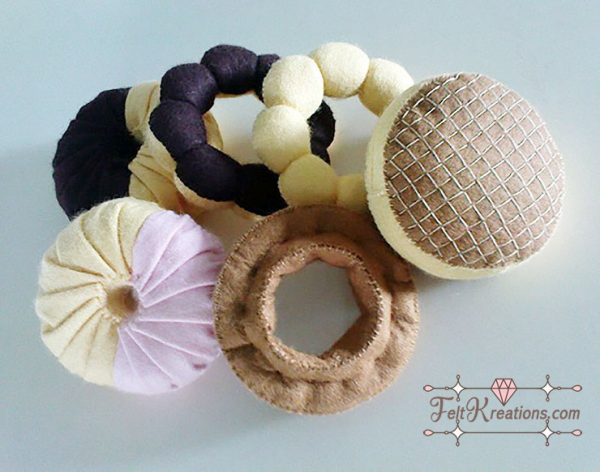 diy felt doughnut pattern felt food patterns tutorials pdf ebook