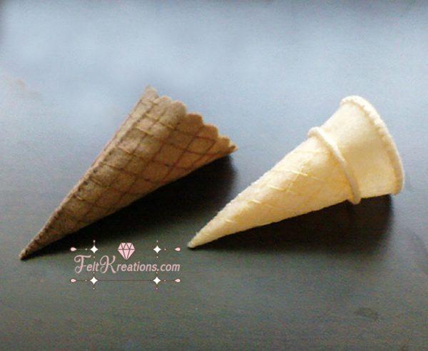 felt ice cream cone pattern tutorial pdf ebook felt food patterns