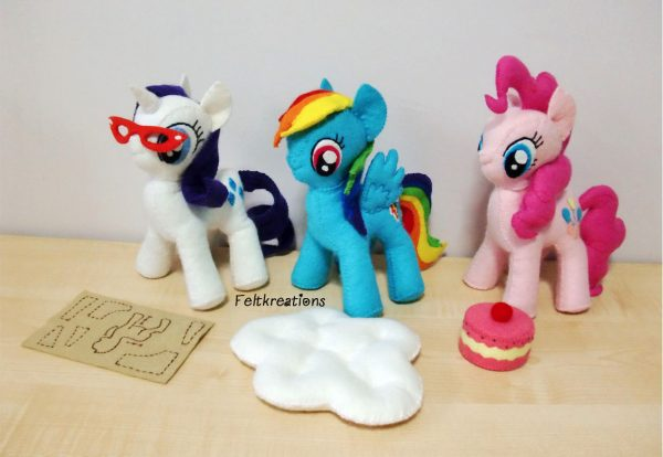 felt my little pony plush MLP patterns