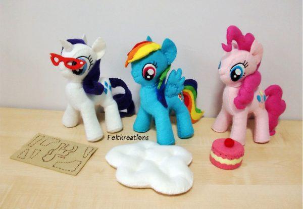 felt my little pony plush MLP patterns