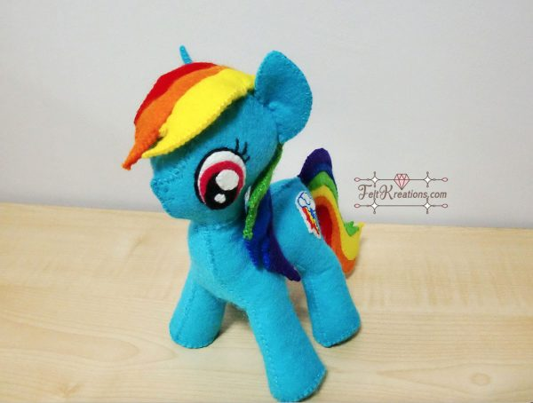 felt rainbow dash sewing pattern