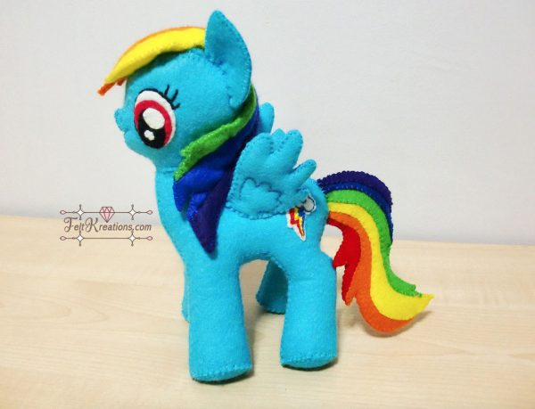 how to sew rainbow dash