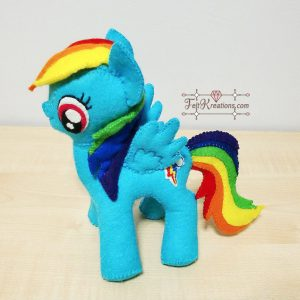 felt rainbow dash patterns