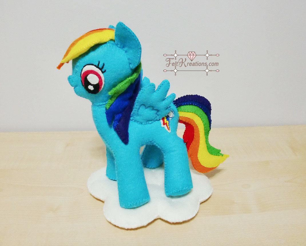 DIy my little pony felt pattern