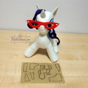 felt rarity my little pony plush