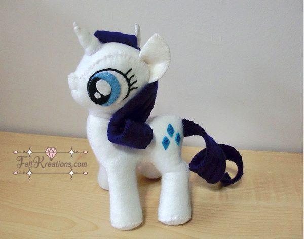 felt my little pony pattern rarity