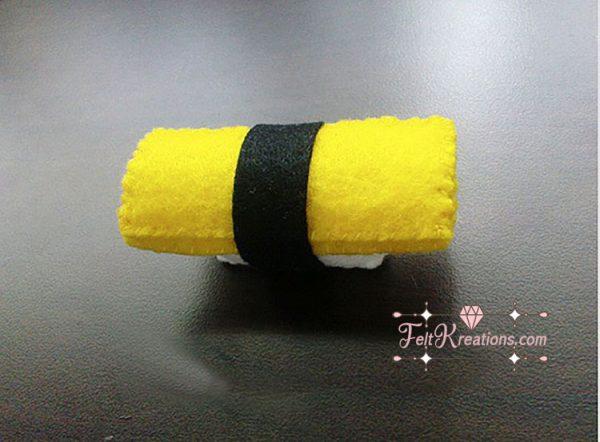 felt egg sushi pattern Feltkreations
