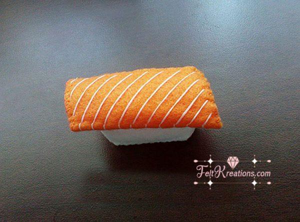 felt salmon sushi pattern