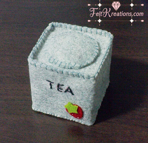Felt Tea tin patterns