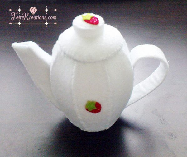 DIY felt tea set pretend play kitchen ebook