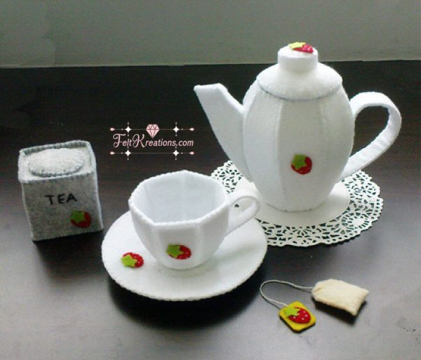 felt tea set patterns sewing for girls