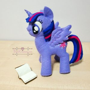 Felt twilight sparkle plush pattern