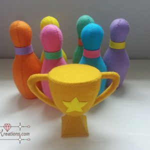 felt bowling patterns tutorial toys felt pattern pdf ebook