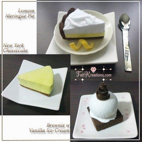 felt cheese cake brownie pattern tutorials pdf ebook