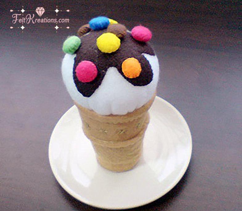 felt ice cream cone waffle candy patterns tutorials PDF ebook
