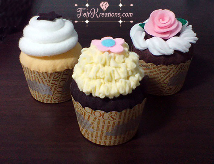 felt cupcakes patterns felt food pattern pdf ebook