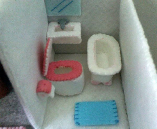 felt dollhouse toilet pattern pdf felt patterns ebook