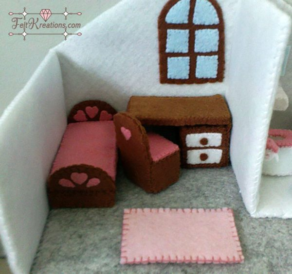 felt dollhouse bedroom pattern pdf felt patterns ebook