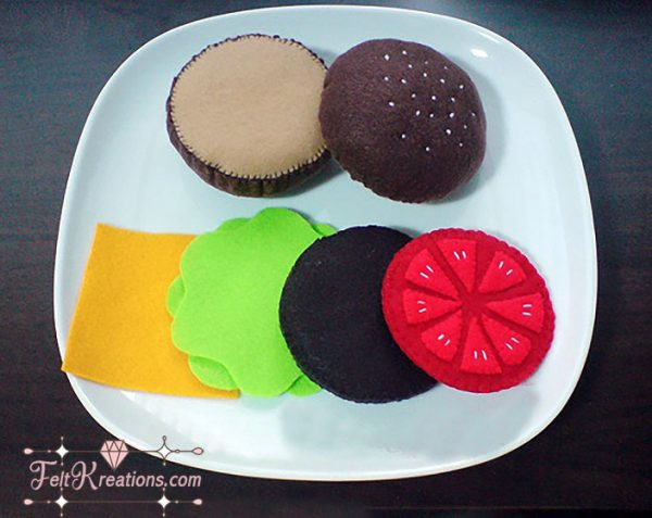 felt cheeseburger patterns felt food pattern pdf