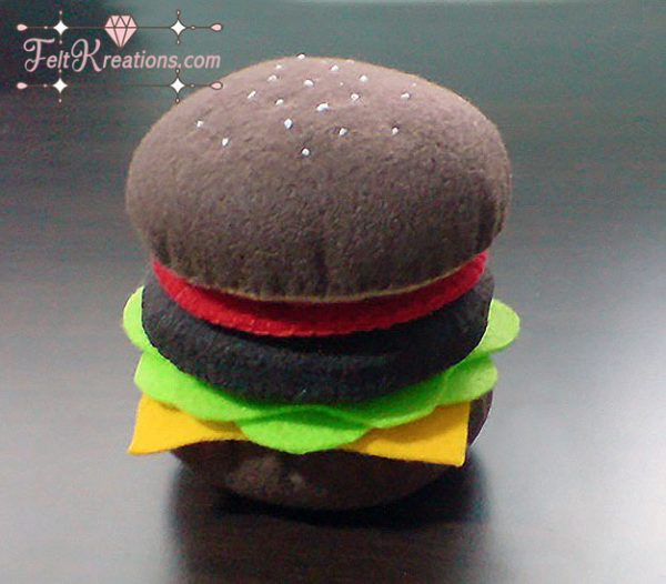 felt hamburger patterns diy felt patterns