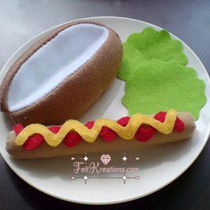 felt hotdog bun patterns