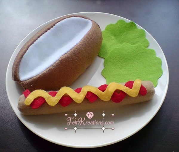 felt hotdog bun patterns