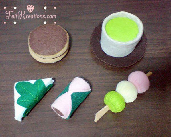 japanese snack felt patterns