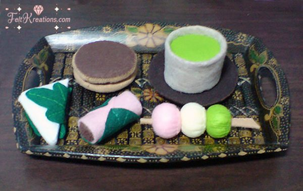 felt japanese snack patterns