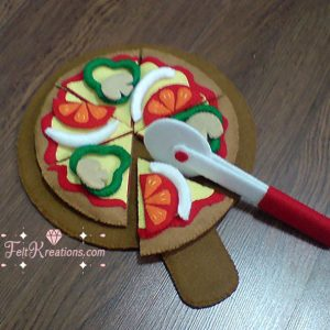 felt pizza patterns