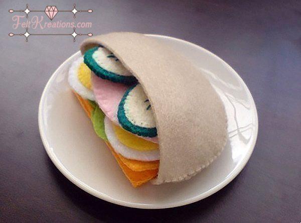 felt pita pouch patterns