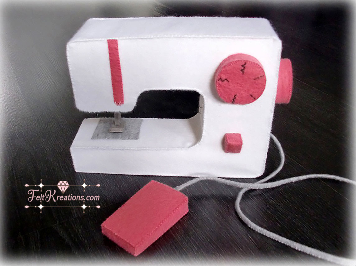 felt sewing machine pretend play