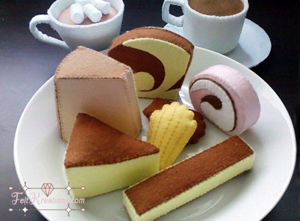 felt cheesecake swiss roll