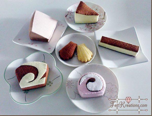 felt patterns tea cakes pretend play felt kitchen