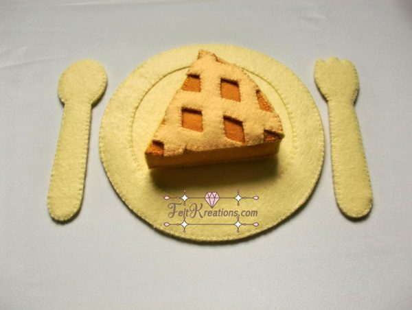 felt apple pie sewing pattern