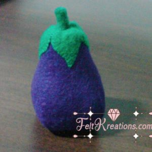 felt eggplant patterns vegetables pattern diy