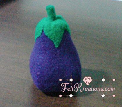 felt eggplant patterns vegetables pattern diy