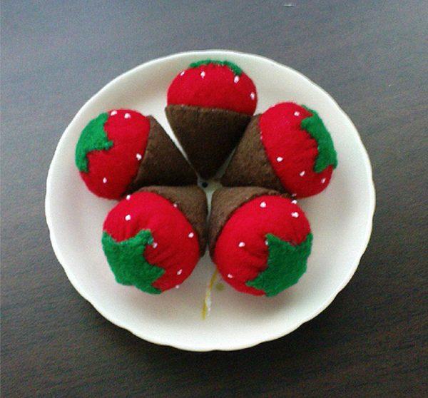 felt chocolate strawberries
