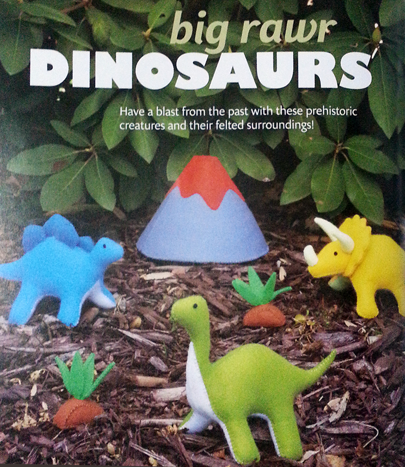 felt dinosaur sewing pattern